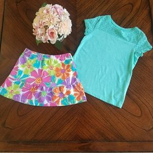 Girls cute skort outfit. Size 5T and 5/6.